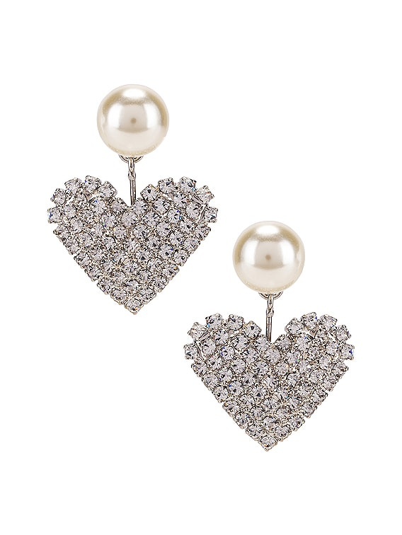 Valentine Earrings in Crystal