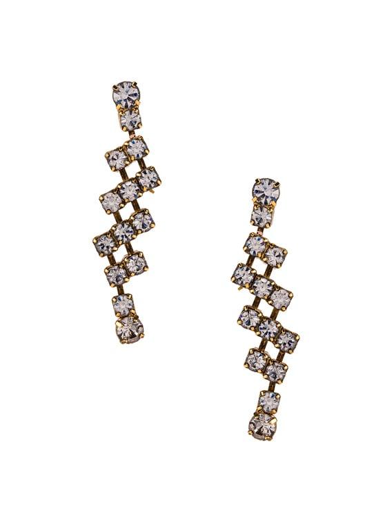 Rhea Earrings in Crystal Antique Gold