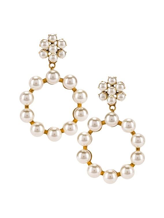 Leilani Earrings in Gold Pearl