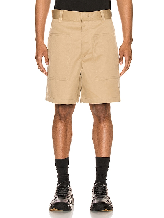Twill Shorts in Light & Pastel Brown