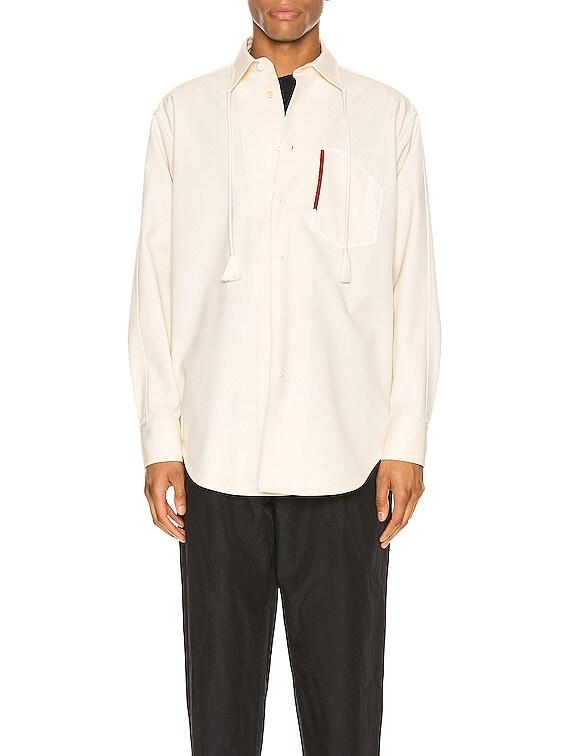Aimil Long Sleeve Shirt in Light Beige