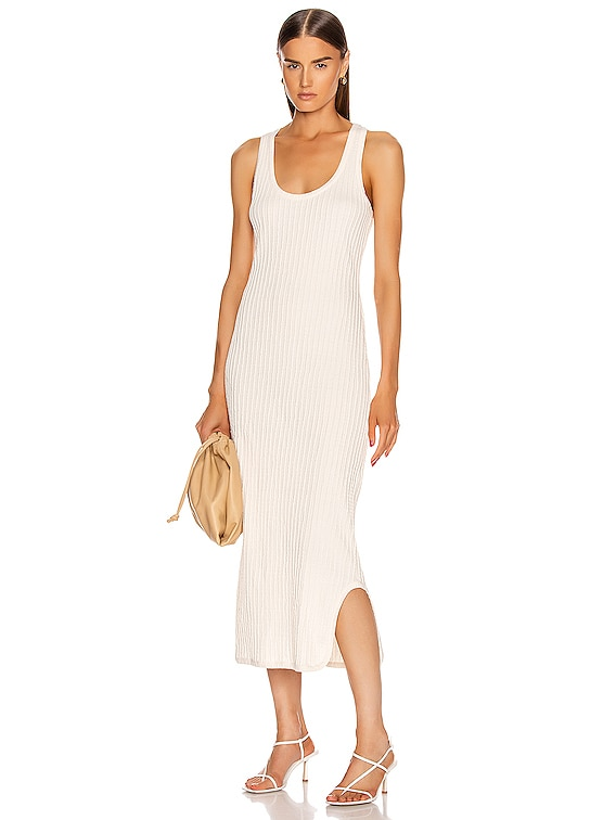 Pleated Tank Top Dress in Natural