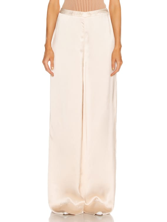 High Waisted Palazzo Pant in Rose