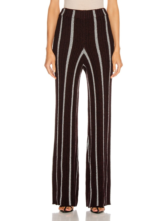 Long Wide Leg Pant in Stripe