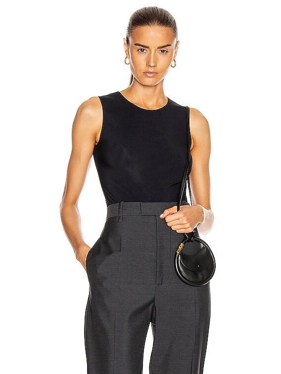 Round Neck Bodysuit in Black