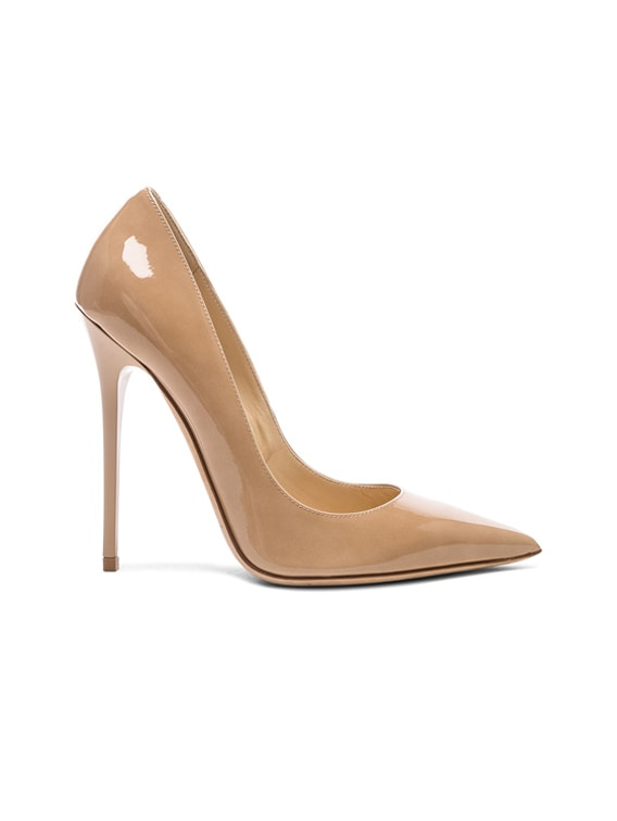 Anouk 120 Patent Leather Pump in Nude