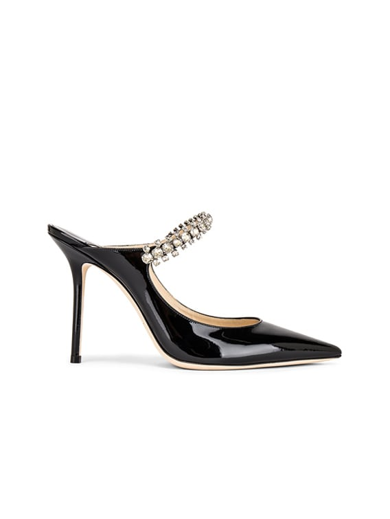 Bing 100 Patent Leather Mule in Black