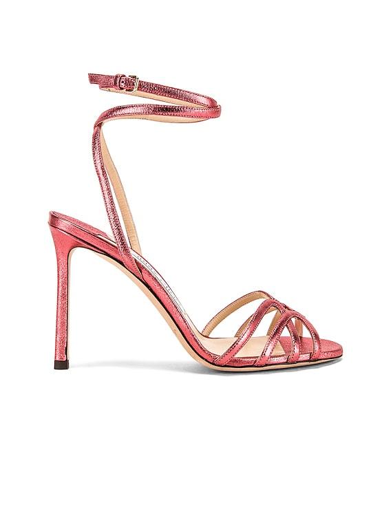 Mimi 100 Metallic Heel in Candy Floss