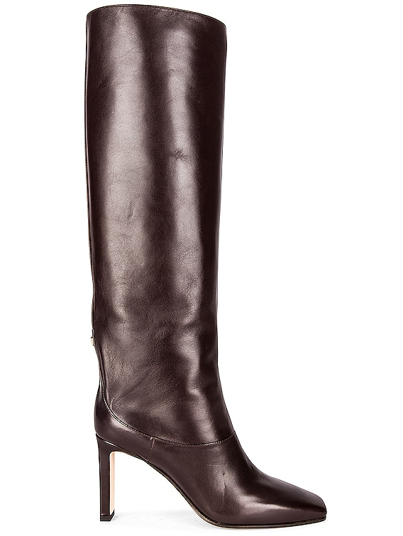 Mahesa 85 Shiny Leather Boot in Brown