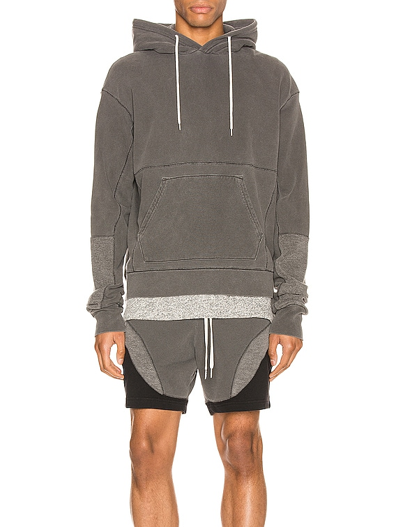 Loose Stitch Beach Hoodie in Washed Black