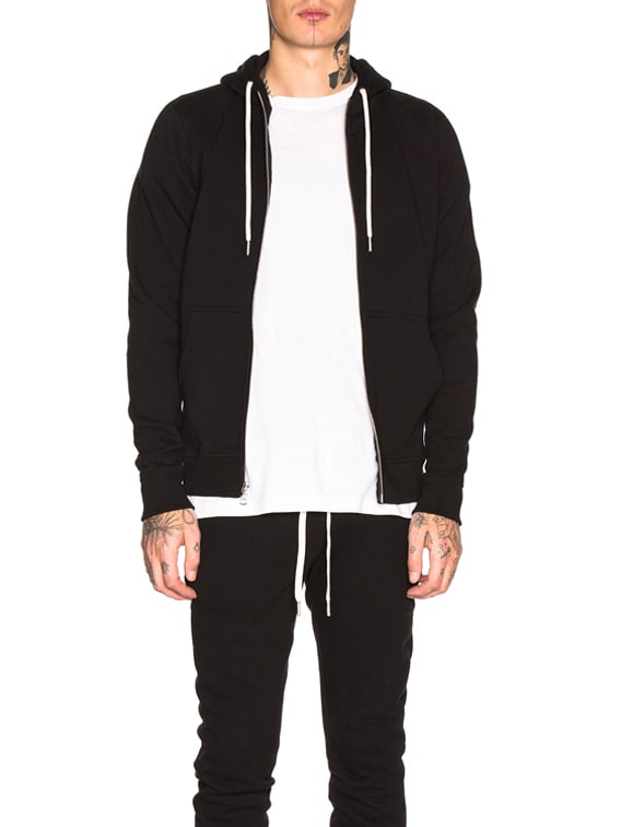 Flash 2 Zip Hoodie in Black