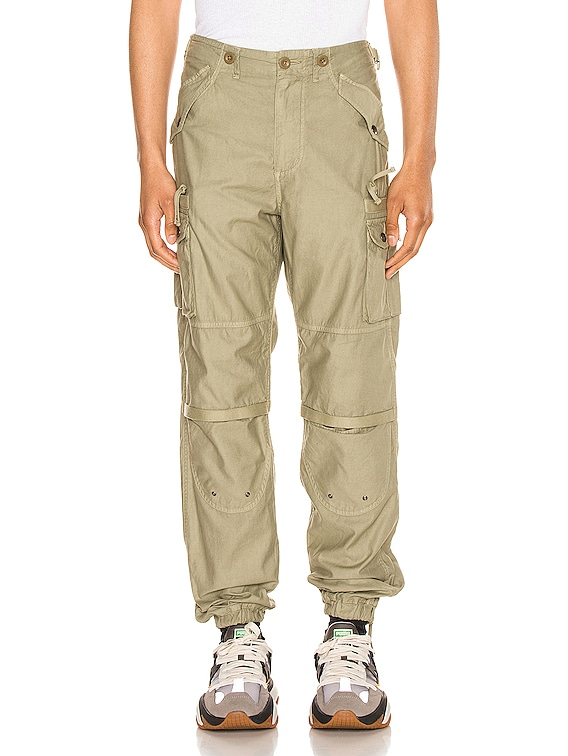 Back Sateen Canopy Cargos in Olive
