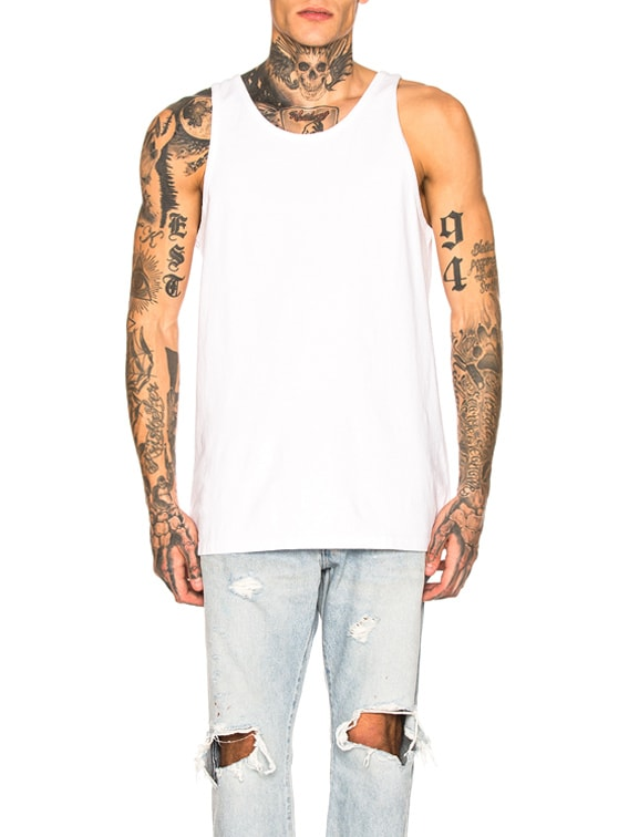 Rugby Tank in White