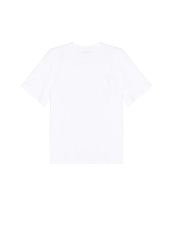 Lucky Pocket Tee in White