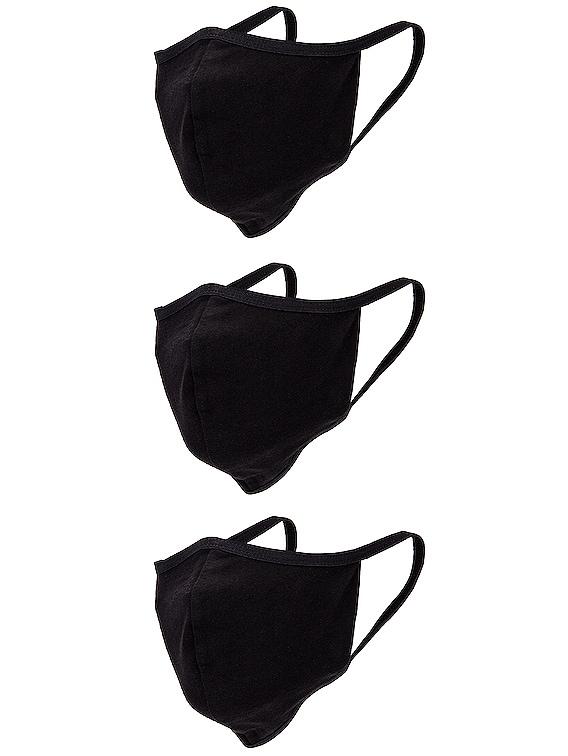 3 Pack Face Mask in Black