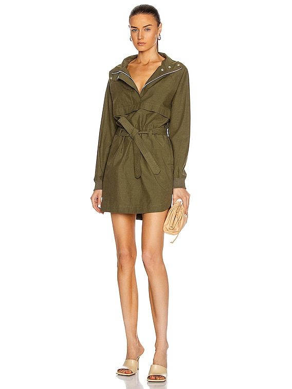 Sail Pullover Dress in Olive