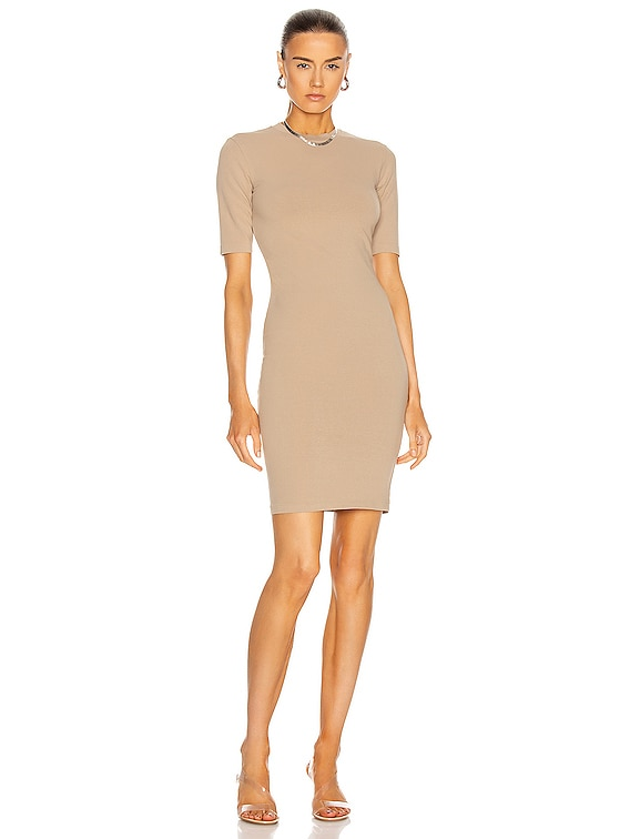Stretch Mockneck Mini Dress in Dusk