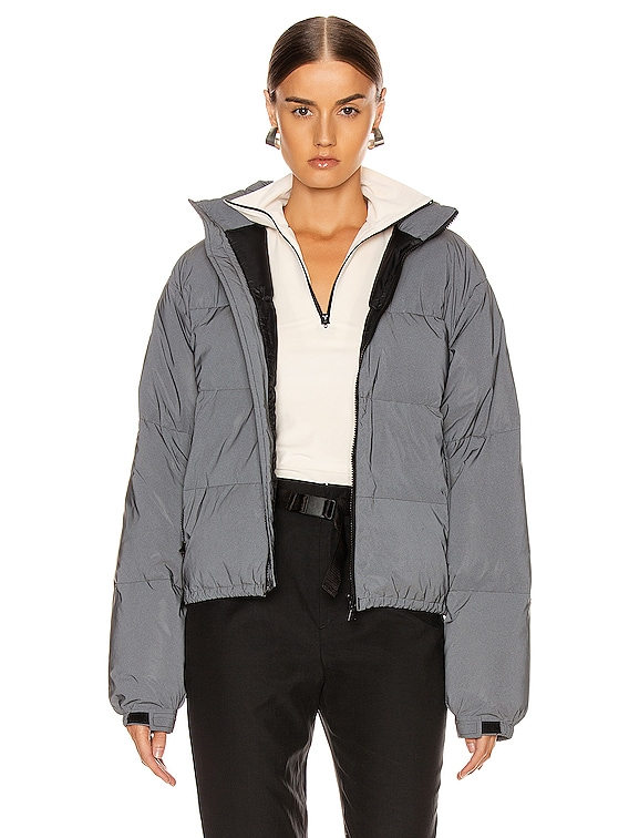 Reflective Puffer in Black