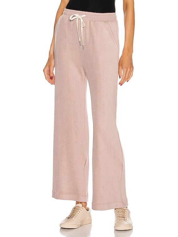 Corduroy Cropped Sweatpant in Soapstone
