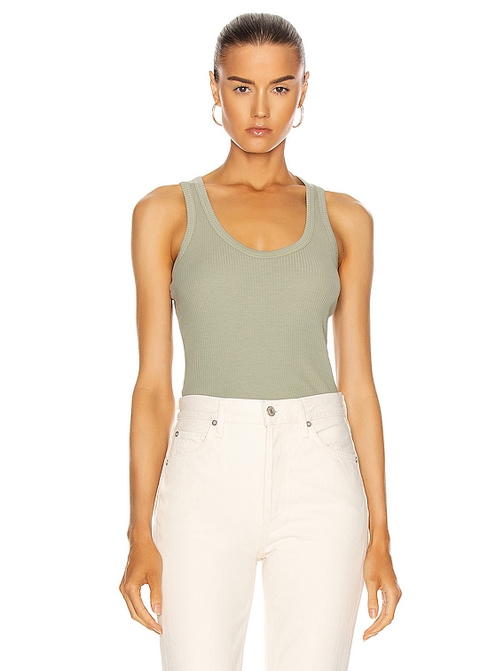 Cotton Rib Tank Top in Chaparral