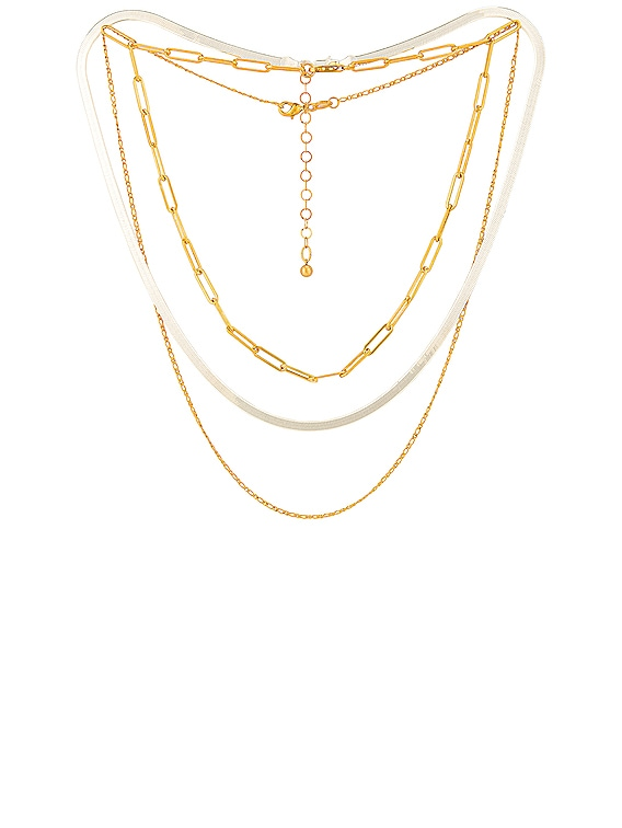 for FWRD Samba Necklace Stack in Gold & Silver