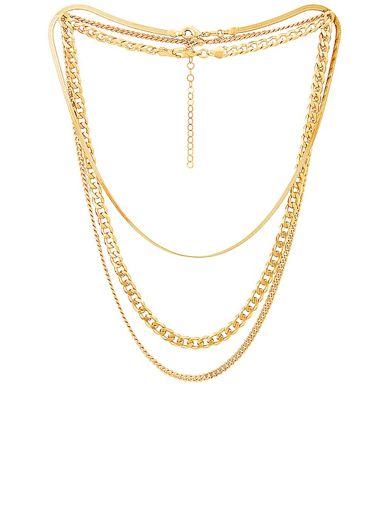for FWRD Sydney Necklace Stack in Gold
