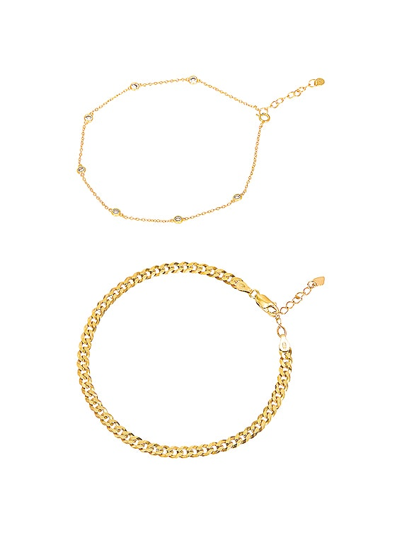 for FWRD Endless Summer Anklet Stack in Gold