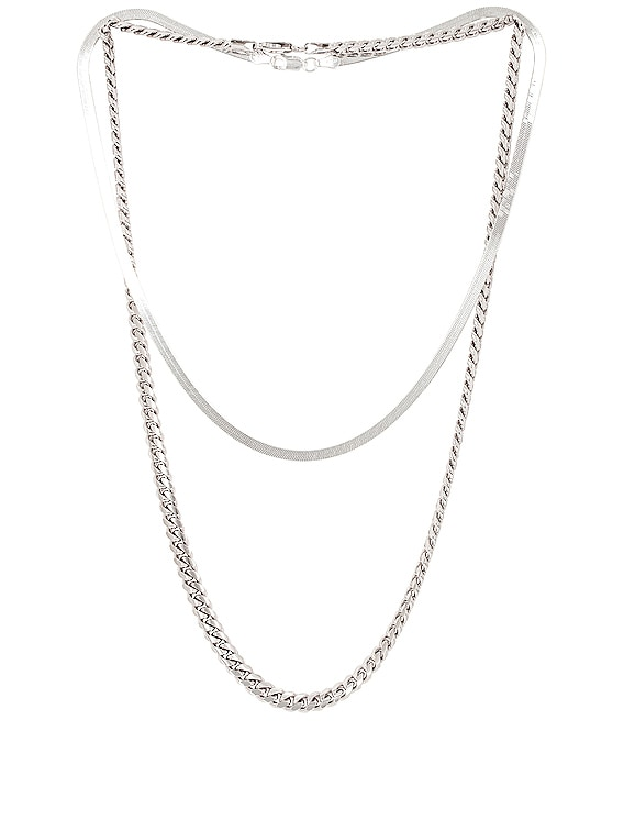 for FWRD Chelsea Necklace Stack in Silver