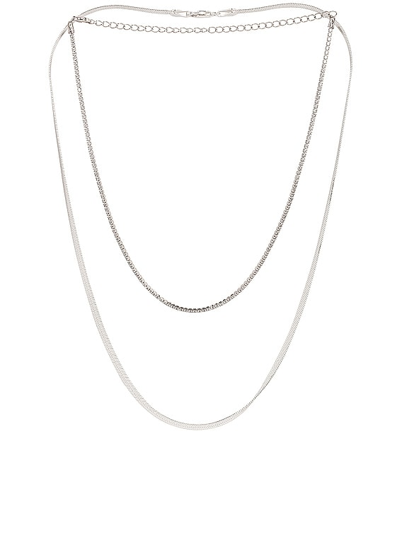 for FWRD Gramercy Necklace Stack in Silver
