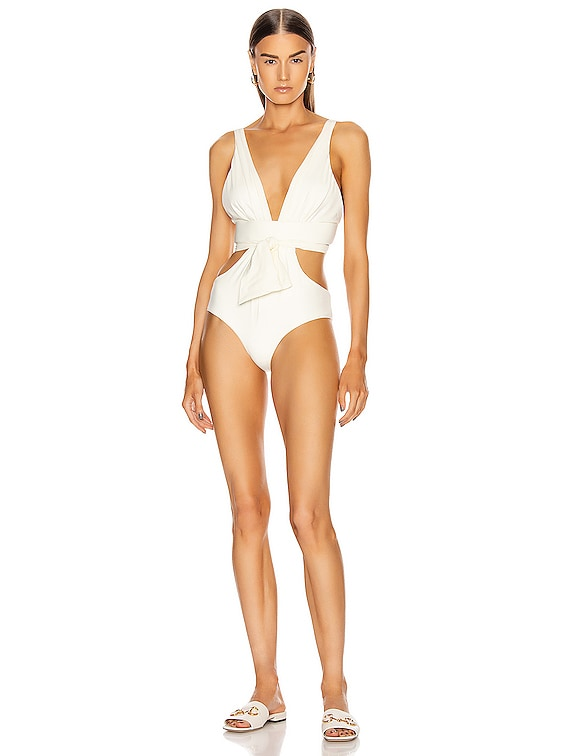 Provenance One Piece Swimsuit in Ecru