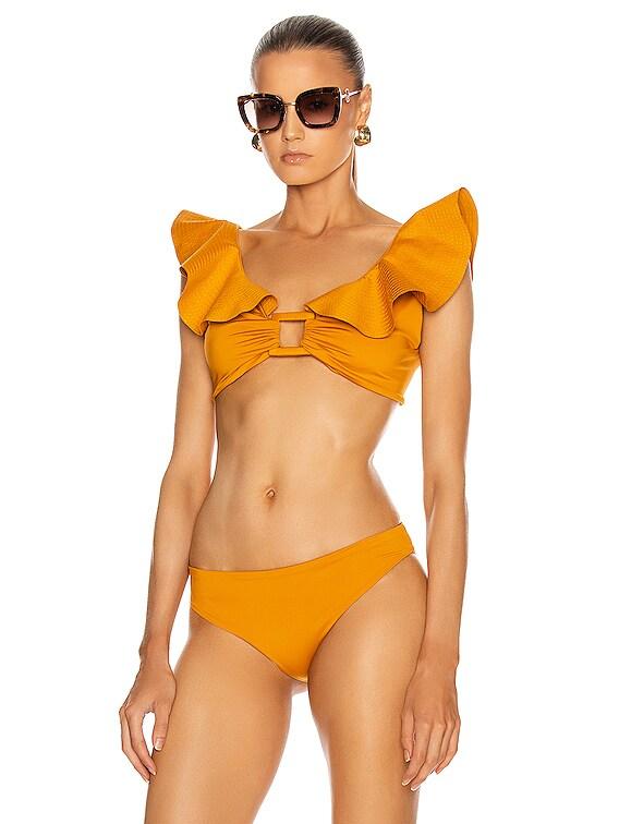 Talisman Bikini Top in Yellow Ochre
