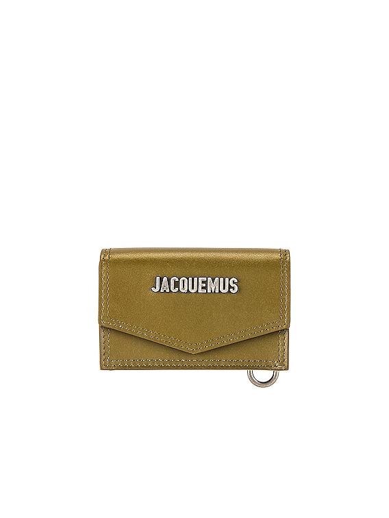 Le Porte Azur Neck Wallet in Dark Khaki