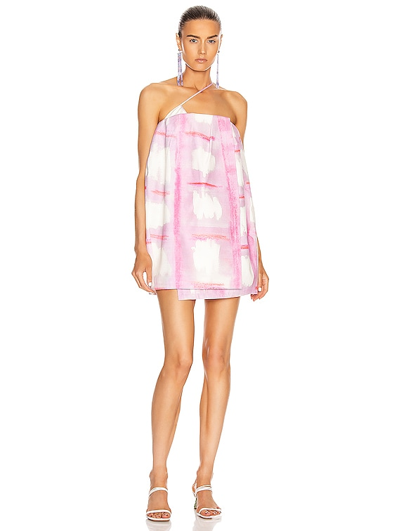 La Robe Soleil in Print Pink Checked