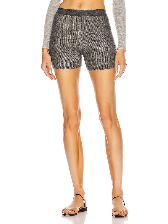 Le Short Arancia in Dark Grey Stripes