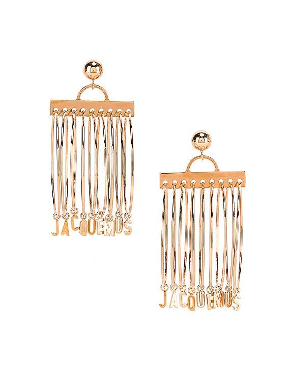 Ring Earrings in Gold