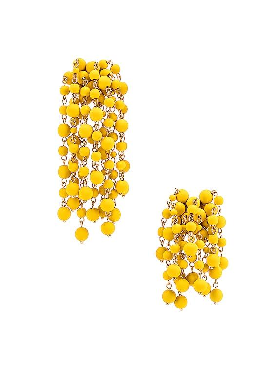 Les Mimosas Earrings in Yellow