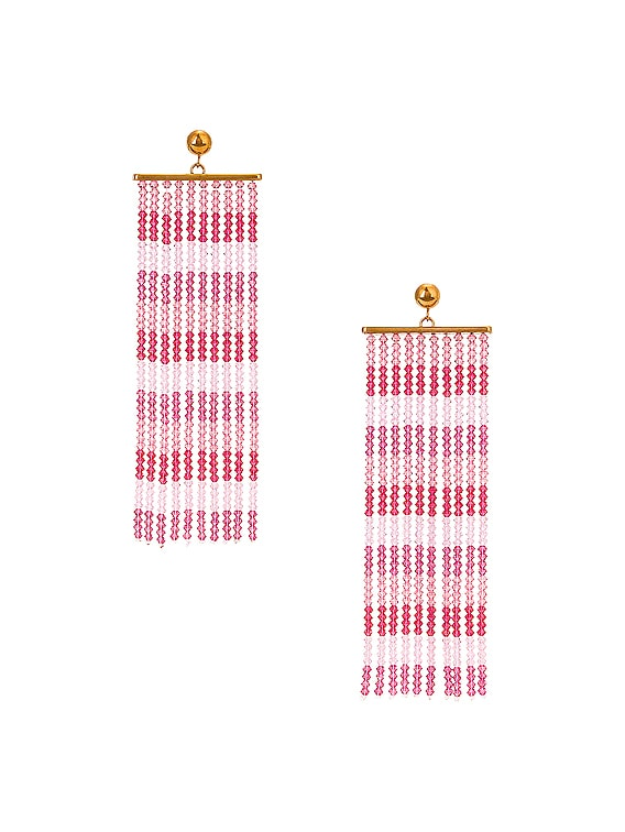 Les Rideaux Earrings in Pink
