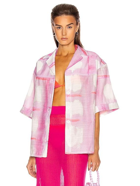 La Chemise Vallena in Print Pink Checked