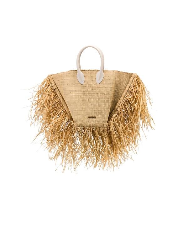 Baci Bag in Beige Leather