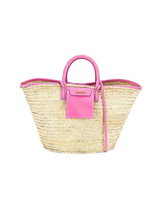 Le Grand Panier Soleil Bag in Pink