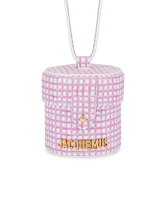Le Vanity Bag in Print Pink Checked