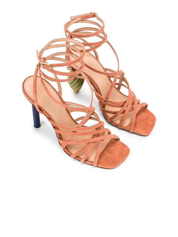 Pisa Sandals in Dark Nude Suede