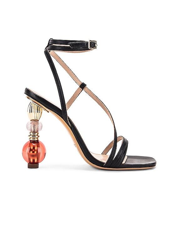 Bordighera Sandal in Black