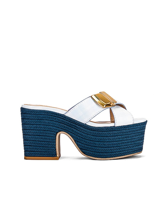Les Sandales Tatanes in Print Blue Checked