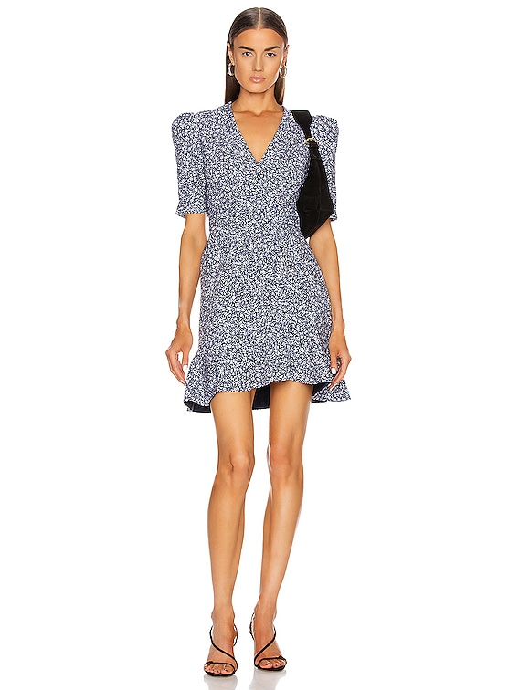 Evelyn Floral Dress in Midnight