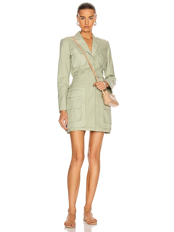Ashton Parachute Blazer Dress in Fern