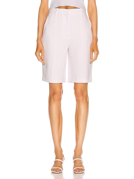 Sky Crepe Bermuda Short in Lilac