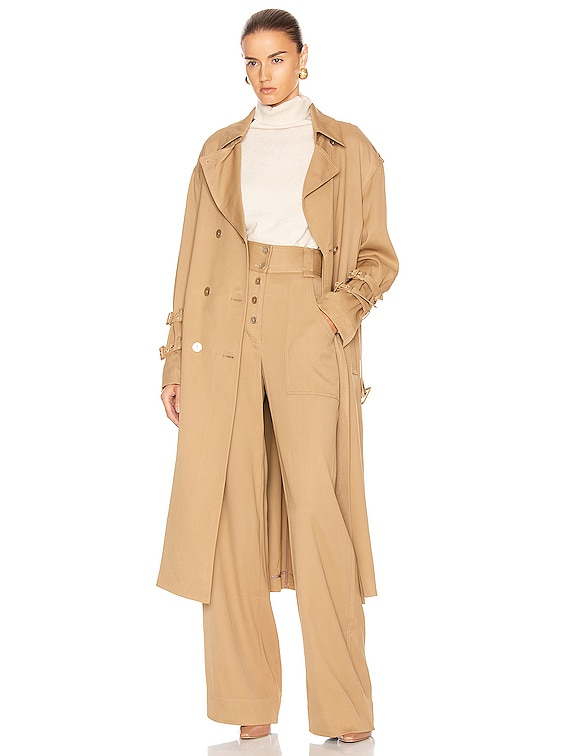 Structured Utility Coat in Ochre