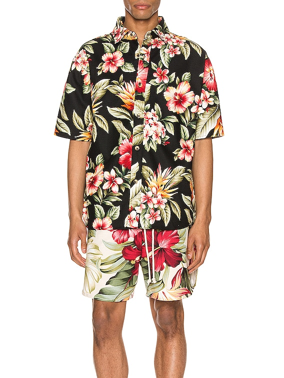 Kailo Short Sleeve Shirt in Bold Hibiscus