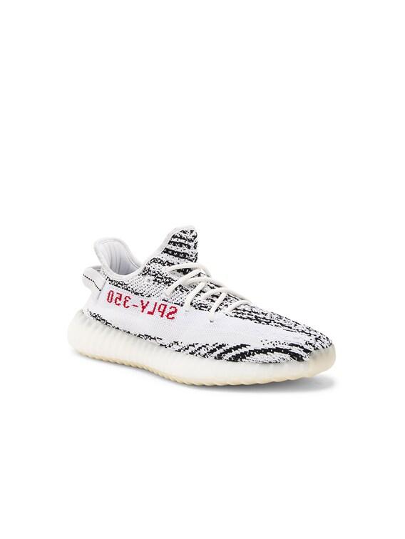 Kanye West X Adidas Originals Yeezy Boost 350 V2 In White Black Red Fwrd